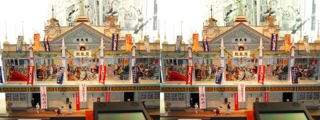 江戸東京博物館 電氣館模型①(交差法)