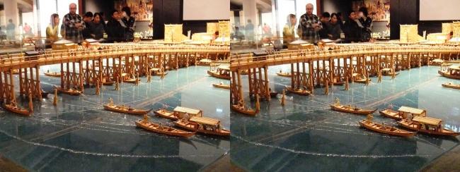 江戸東京博物館 両国橋西詰 ジオラマ模型⑥(平行法)
