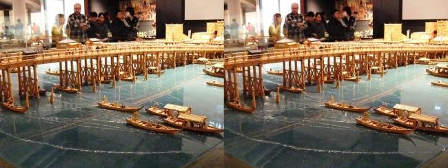 江戸東京博物館 両国橋西詰 ジオラマ模型⑥(交差法)