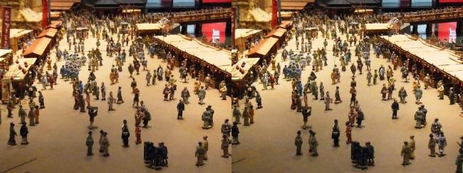江戸東京博物館 両国橋西詰 ジオラマ模型⑤(平行法)