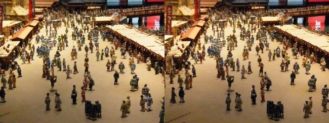 江戸東京博物館 両国橋西詰 ジオラマ模型⑤(交差法)