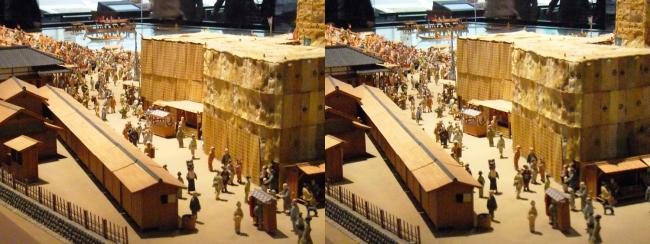 江戸東京博物館 両国橋西詰 ジオラマ模型④(平行法)