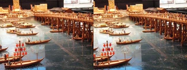 江戸東京博物館 両国橋西詰 ジオラマ模型①(平行法)