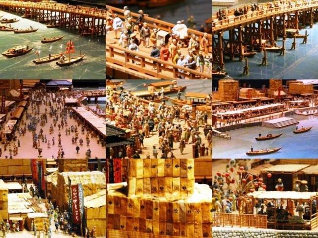 江戸東京博物館 両国橋西詰 ジオラマ模型