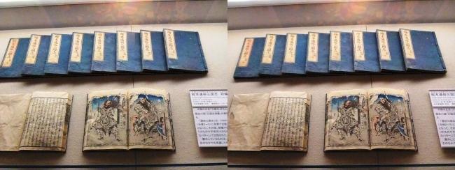 江戸東京博物館 絵本通俗三国志(交差法)