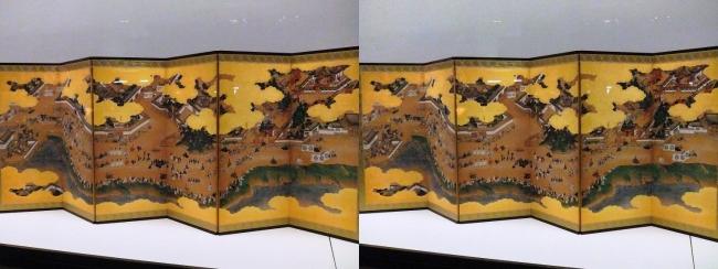 江戸東京博物館 日吉山王社参詣図屏風(平行法)
