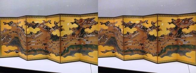 江戸東京博物館 日吉山王社参詣図屏風(交差法)