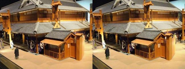 江戸東京博物館 三井越後屋 江戸本店 ジオラマ模型②(平行法)