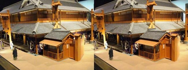 江戸東京博物館 三井越後屋 江戸本店 ジオラマ模型②(交差法)