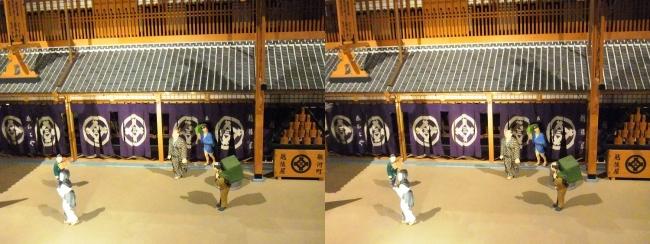 江戸東京博物館 三井越後屋 江戸本店 ジオラマ模型①(交差法)