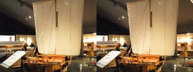 江戸東京博物館 菱垣廻船(交差法)