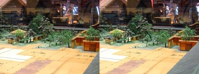 江戸東京博物館 寛永の大名屋敷 模型⑤(平行法)