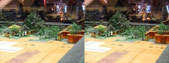 江戸東京博物館 寛永の大名屋敷 模型⑤(交差法)