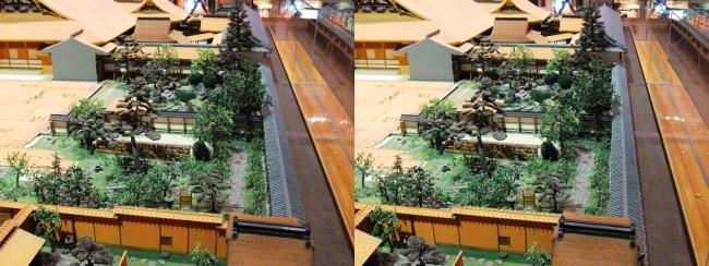 江戸東京博物館 寛永の大名屋敷 模型④(平行法)