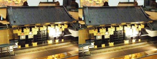 江戸東京博物館 寛永の大名屋敷 模型③(平行法)