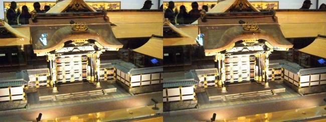江戸東京博物館 寛永の大名屋敷 模型②(交差法)