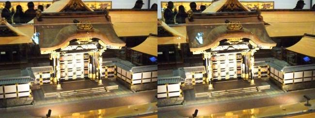 江戸東京博物館 寛永の大名屋敷 模型②(平行法)
