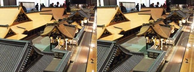 江戸東京博物館 寛永の大名屋敷 模型①(平行法)