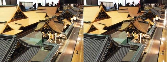 江戸東京博物館 寛永の大名屋敷 模型①(交差法)