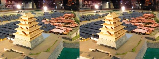 江戸東京博物館 幕末の江戸城 本丸・二丸御門 模型①(交差法)