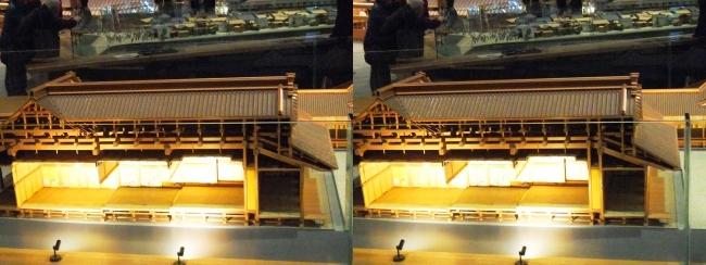 江戸東京博物館 江戸城本丸 松の廊下 模型②(平行法)