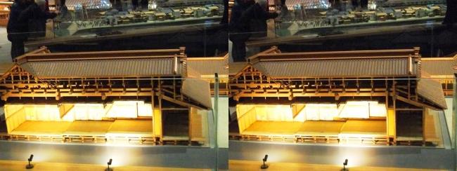 江戸東京博物館 江戸城本丸 松の廊下 模型②(交差法)