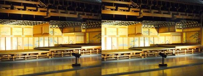 江戸東京博物館 江戸城本丸 松の廊下 模型①(平行法)