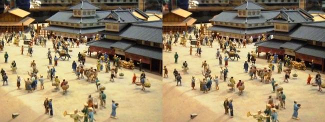江戸東京博物館 寛永の町人地 ジオラマ模型⑥(交差法)