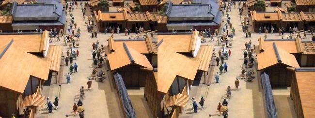 江戸東京博物館 寛永の町人地 ジオラマ模型⑤(平行法)