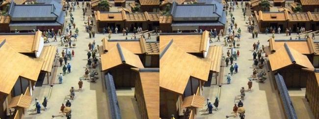 江戸東京博物館 寛永の町人地 ジオラマ模型⑤(交差法)
