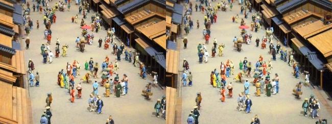江戸東京博物館 寛永の町人地 ジオラマ模型③(平行法)