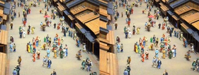 江戸東京博物館 寛永の町人地 ジオラマ模型③(交差法)