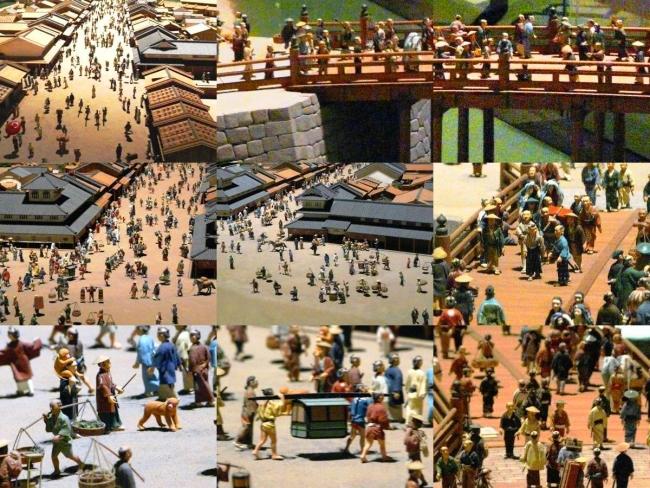 江戸東京博物館 寛永の町人地 ジオラマ模型