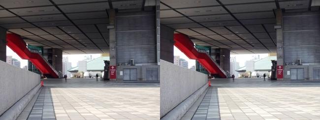 江戸東京博物館外観③(平行法)
