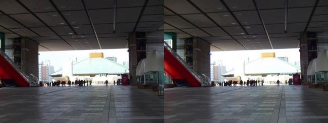 江戸東京博物館外観②(平行法)