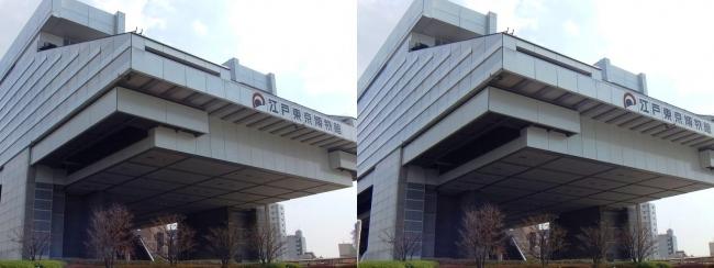 江戸東京博物館外観①(平行法)