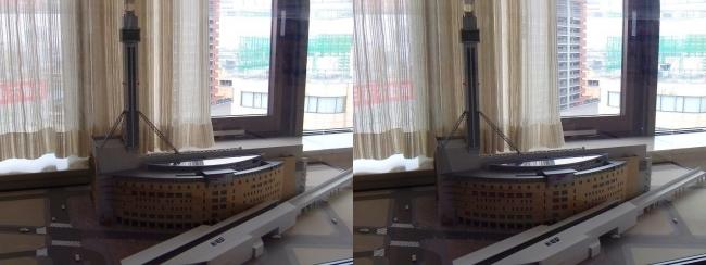 タワーホール船堀の模型(平行法)