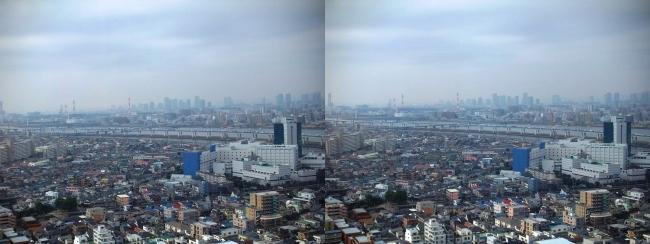 タワーホール船堀からの東京都内②(交差法)