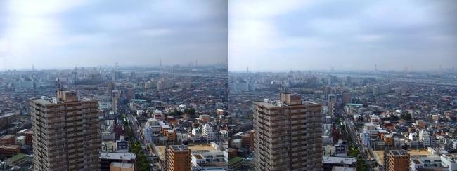 タワーホール船堀からの東京都内①(交差法)