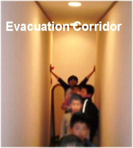 02a 500 20110405 FireDrill PB回廊#1