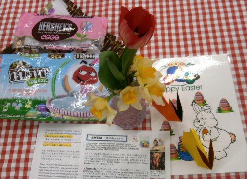03f 500 20160409 YEA Easter_choco Bunny折り紙on table