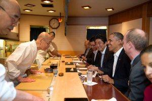 1b 300 sushi Obama