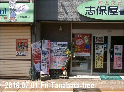 03e 500 20160701 七夕飾り 志保屋書店