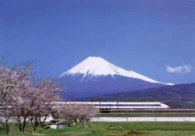 1a 400 新幹線、富士山