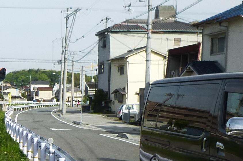 対岸車道、歩道