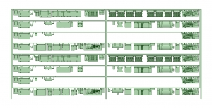 @阪急5100系登場時8連 床下機器【武蔵模型工房 Nゲージ 鉄道模型】