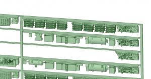 @阪急5100系登場時8連 床下機器【武蔵模型工房 Nゲージ 鉄道模型】-1