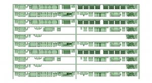 @阪急5100系登場時10連 床下機器【武蔵模型工房 Nゲージ 鉄道模型】