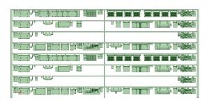 @阪急5100系90年代仕様 8連 床下機器【武蔵模型工房 Nゲージ 鉄道模型】