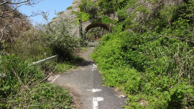 トンネル避けて旧道